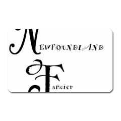 Newfie Fancier Magnet (Rectangular)