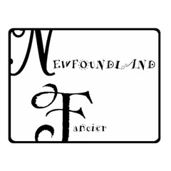 Newfie Fancier Fleece Blanket (Small)