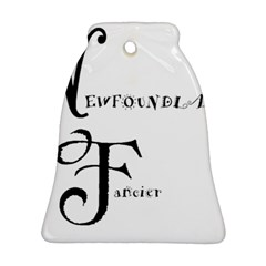 Newfie Fancier Bell Ornament (Two Sides)