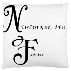 Newfie Fancier Standard Flano Cushion Case (Two Sides)