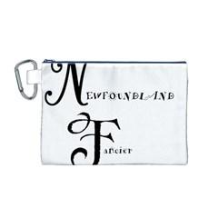Newfie Fancier Canvas Cosmetic Bag (M)