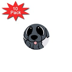 Newfie Gray Cartoon 1  Mini Buttons (10 pack)