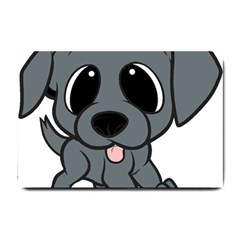 Newfie Gray Cartoon Small Doormat