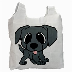 Newfie Gray Cartoon Recycle Bag (One Side)