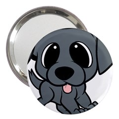 Newfie Gray Cartoon 3  Handbag Mirrors