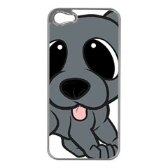 Newfie Gray Cartoon Apple iPhone 5 Case (Silver)