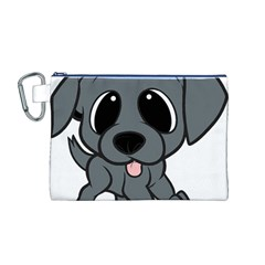 Newfie Gray Cartoon Canvas Cosmetic Bag (M)