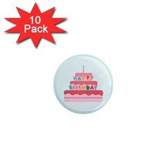 Birthday Cake 1  Mini Magnet (10 pack)