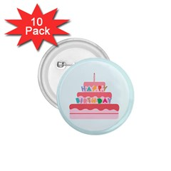 Birthday Cake 1.75  Buttons (10 pack)