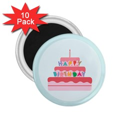 Birthday Cake 2.25  Magnets (10 pack)