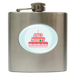 Birthday Cake Hip Flask (6 oz)