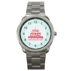 Birthday Cake Sport Metal Watch