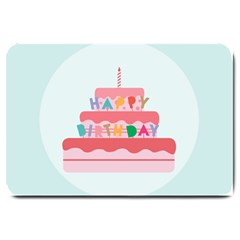 Birthday Cake Large Doormat