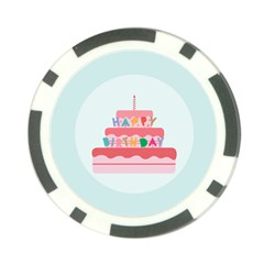 Birthday Cake Poker Chip Card Guard (10 pack)