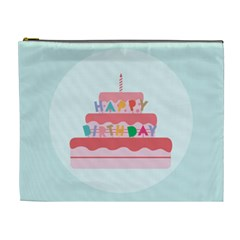 Birthday Cake Cosmetic Bag (XL)