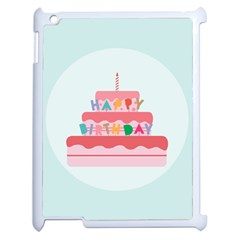 Birthday Cake Apple iPad 2 Case (White)