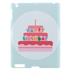 Birthday Cake Apple iPad 3/4 Hardshell Case