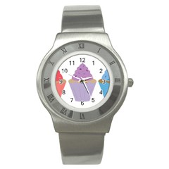 Cupcakes Stainless Steel Watch