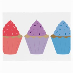 Cupcakes Large Glasses Cloth