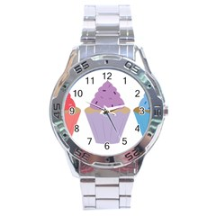 Cupcakes Stainless Steel Analogue Watch