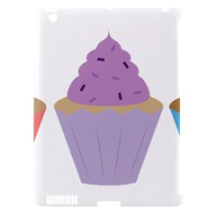 Cupcakes Apple iPad 3/4 Hardshell Case (Compatible with Smart Cover)