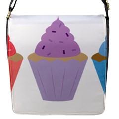 Cupcakes Flap Messenger Bag (S)