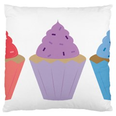 Cupcakes Standard Flano Cushion Case (Two Sides)