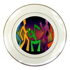 Dance Dance Dance Porcelain Plates