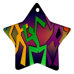 Dance Dance Dance Star Ornament (Two Sides)