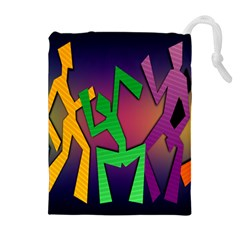 Dance Dance Dance Drawstring Pouches (Extra Large)