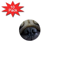 Pug Fawn Eyes 1  Mini Buttons (10 pack)