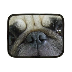 Pug Fawn Eyes Netbook Case (Small)