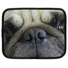 Pug Fawn Eyes Netbook Case (Large)
