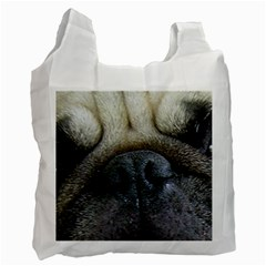 Pug Fawn Eyes Recycle Bag (Two Side)
