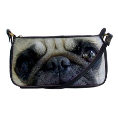 Pug Fawn Eyes Shoulder Clutch Bags