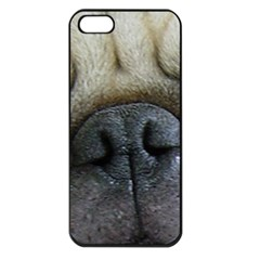 Pug Fawn Eyes Apple iPhone 5 Seamless Case (Black)
