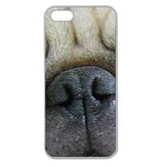 Pug Fawn Eyes Apple Seamless iPhone 5 Case (Clear)