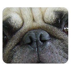 Pug Fawn Eyes Double Sided Flano Blanket (Small)