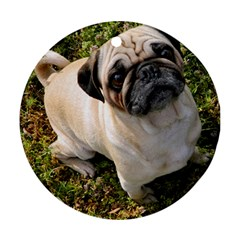 Pug Fawn Full Ornament (Round)