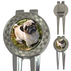 Pug Fawn Full 3-in-1 Golf Divots