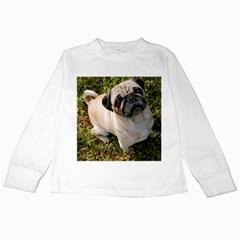 Pug Fawn Full Kids Long Sleeve T-Shirts