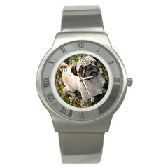 Pug Fawn Full Stainless Steel Watch