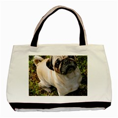 Pug Fawn Full Basic Tote Bag