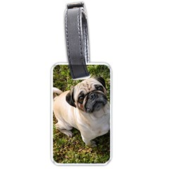 Pug Fawn Full Luggage Tags (One Side)