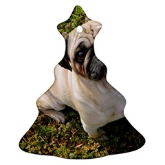 Pug Fawn Full Christmas Tree Ornament (Two Sides)