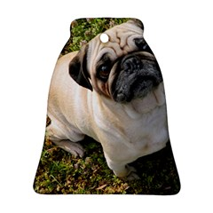 Pug Fawn Full Bell Ornament (Two Sides)