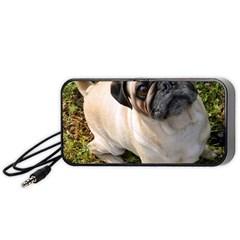 Pug Fawn Full Portable Speaker (Black)