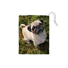 Pug Fawn Full Drawstring Pouches (Small)