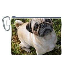 Pug Fawn Full Canvas Cosmetic Bag (L)