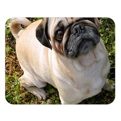 Pug Fawn Full Double Sided Flano Blanket (Large)